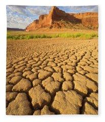 Drought Glen Canyon Utah Fleece Blanket