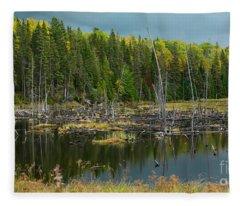 Drowned Trees Fleece Blanket