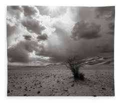 Fleece Blanket featuring the photograph Drowning On Dry Land by Alex Lapidus