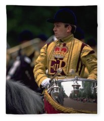 Drum Horse At Trooping The Colour Fleece Blanket