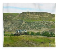Drumheller Bridge Fleece Blanket