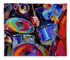 Drums And Friends Fleece Blanket