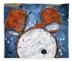 Drums On Blues Fleece Blanket