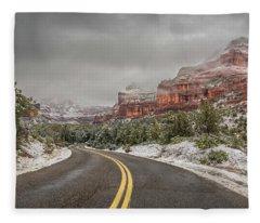 Boynton Canyon Road Fleece Blanket