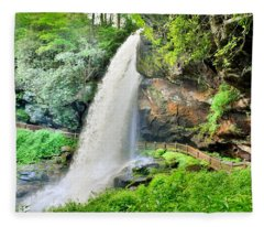 Dry Falls Highlands North Carolina 2 Fleece Blanket