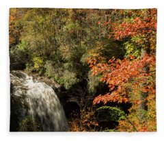 Dry Falls In North Carolina Fleece Blanket