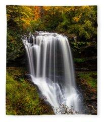 Dry Falls In October  Fleece Blanket