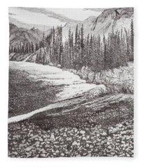 Dry Riverbed Fleece Blanket