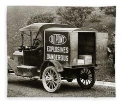 Du Pont Co. Explosives Truck Pennsylvania Coal Fields 1916 Fleece Blanket