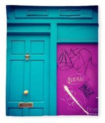 Dublin, Ireland Door Fleece Blanket