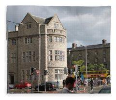 Dublin Near Pearse Street Fleece Blanket