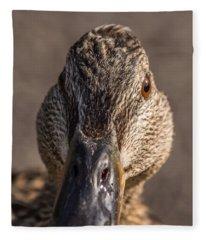 Duck Headshot Fleece Blanket