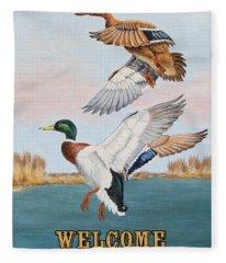Duck Hunters-jp2817 Fleece Blanket