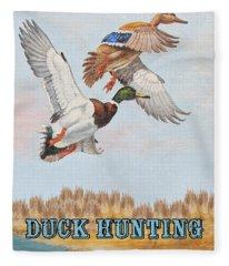 Duck Hunting-jp2818 Fleece Blanket