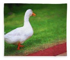 Duck To The Rescue Fleece Blanket