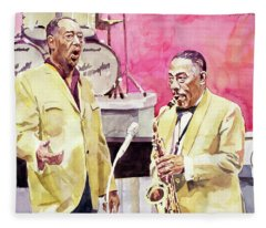 Duke Ellington And Johnny Hodges Fleece Blanket