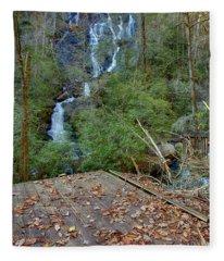 Dukes Creek Falls 2 Fleece Blanket