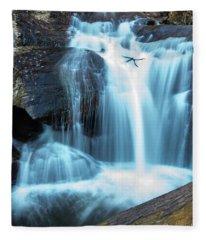 Dukes Creek Falls 3 Fleece Blanket