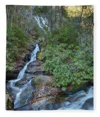 Dukes Creek Falls Fleece Blanket