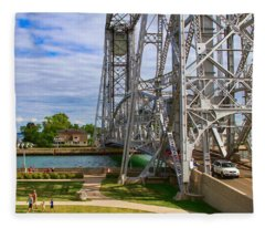 Duluth Aerial Lift Bridge Fleece Blanket