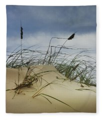Dune And Beach Grass Fleece Blanket