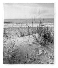Dune - Black And White Fleece Blanket