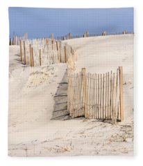 Dune Fence Portrait Fleece Blanket
