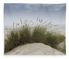 Dune Grass Along The Oregon Coast Fleece Blanket
