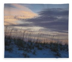 Dune Grass Blue Fleece Blanket