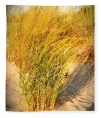 Dune Grass II  - Jersey Shore Fleece Blanket