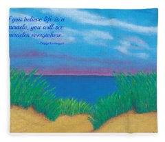 Dunes At Dawn - With Quote Fleece Blanket