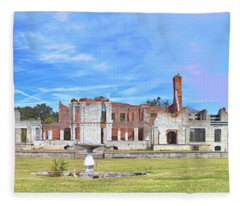 Dungeness Ruins Fleece Blanket