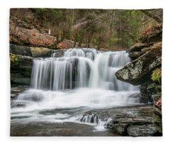 Dunloup Creek Falls Fleece Blanket