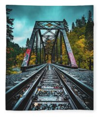 Dunsmir Bridge Fleece Blanket