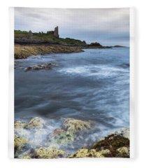 Dunure Castle Scotland  Fleece Blanket