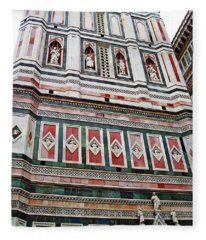 Giotto's Campanile Facade Detail Fleece Blanket