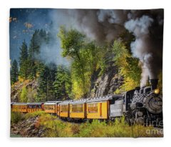 Durango-silverton Narrow Gauge Railroad Fleece Blanket