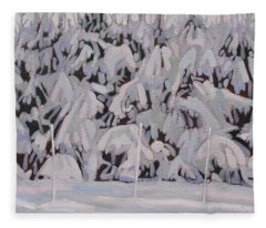 During The Storm Fleece Blanket