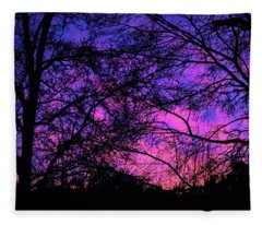 Dusk And Nature Intertwine Fleece Blanket