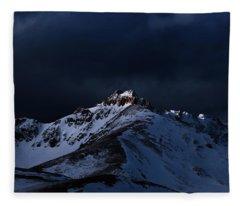 Dusk At Loveland Pass Fleece Blanket