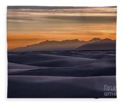 Dusk At White Sands Fleece Blanket