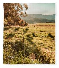 Dusky Fields Fleece Blanket