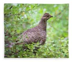 Dusky Grouse Fleece Blanket
