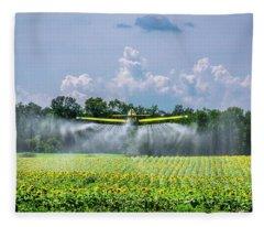 Dusting The Crop Fleece Blanket