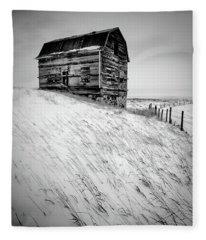 Dutch Barn In Winter Fleece Blanket