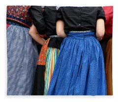 Dutch Dancers In A Huddle Fleece Blanket