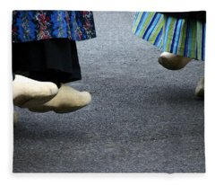 Dutch Dancers In Holland Fleece Blanket