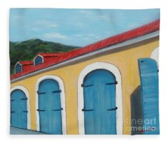 Dutch Doors Of St. Thomas Fleece Blanket