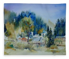 Dutch Flat Hamlet #2 Fleece Blanket