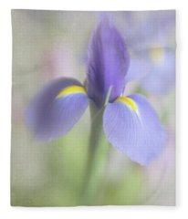 Dutch Iris Fleece Blanket